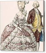 Informal Wedding Dress, Engraved Canvas Print