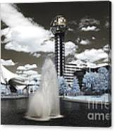 Infrared City Park Canvas Print
