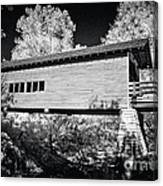Infrared Covered Bridge Canvas Print