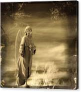Infrared Dream Angel Canvas Print