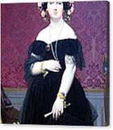 Ingres' Madame Moitessier Canvas Print