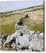 Inis Mor Fields Of Stone Canvas Print
