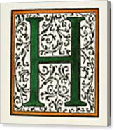 Initial 'h', C1600 Canvas Print