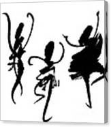 Ink Painting With Abstract Dancers  Canvas Print
