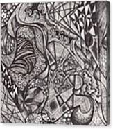 Ink Unfolding Canvas Print