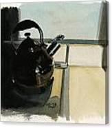 Inktober 8 Tea Time Canvas Print