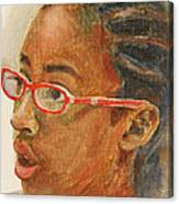 Inquisitive Girl Canvas Print