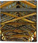 Inside A Covered Bridge 3 Canvas Print