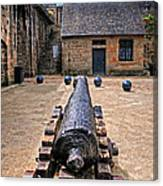 Inside A French Fort Canvas Print