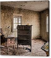 Inside Abandoned House Photos - Old Room - Life Long Gone Canvas Print