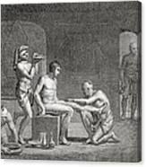 Inside An Egyptian Bathhouse, C.1820s Canvas Print
