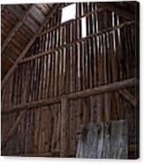 Inside An Old Barn Canvas Print