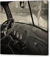 Inside An Old Junker Car Canvas Print