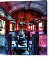 Inside An Old Train Canvas Print