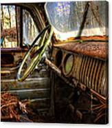 Inside An Old Truck Canvas Print