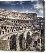 Inside Colosseum Canvas Print