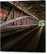Inside Covered Bridge Canvas Print