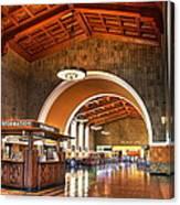 Inside Los Angeles Union Station Canvas Print