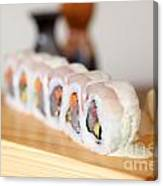 Inside Out Tuna Sushi Canvas Print
