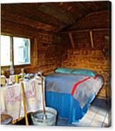 Inside Savage River Cabin In Denali Np-ak   Canvas Print