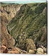 Inside The Black Canyon Canvas Print
