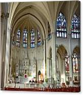Inside The Cathedral Basilica Of The Immaculate Conception 1 Canvas Print