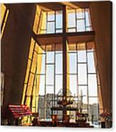 Inside The Chapel Of The Holy Cross Canvas Print