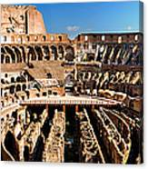 Inside The Colosseum Canvas Print