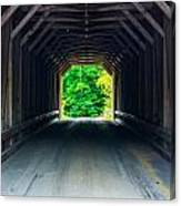 Inside The Covered Bridge Canvas Print
