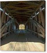 Inside The Cox Ford Covered Bridge Canvas Print