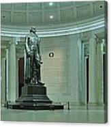 Inside The Jefferson Memorial Canvas Print