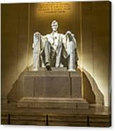 Inside The Lincoln Memorial Canvas Print
