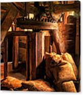 Inside The Old Mill Canvas Print