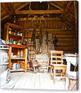 Inside The Real Sam Mcgee's Cabin In Macbride Museum In Whitehorse-yk Canvas Print