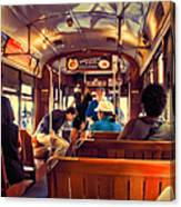 Inside The St. Charles Ave Streetcar New Orleans Canvas Print
