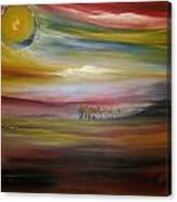 Inside The Sunset Canvas Print