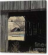 Barn - Kentucky - Inside Treasure Canvas Print