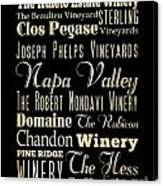 Inspirational Art- Napa Valley Wineries Canvas Print