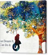 Inspirational Art - You Can Do It - Sharon Cummings Canvas Print