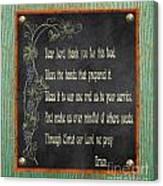 Inspirational Chalkboard-d2 Canvas Print