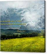 Inspirational - Eternal Hope - Psalms 19-1 Canvas Print
