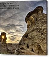 Inspirational Hoodoo Badlands Alberta Canada Canvas Print