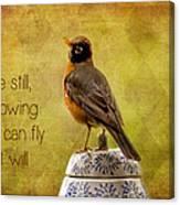 Inspirational Robin Canvas Print