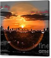 Inspirational--summer Day On A Winters Night Canvas Print