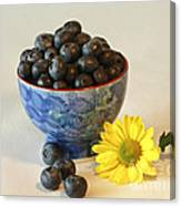 Inspired By Blue Berries Canvas Print