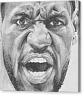Intensity Lebron James Canvas Print