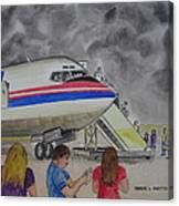 Interam Airlines Flight One Clearwater Florida To Bristol England Canvas Print