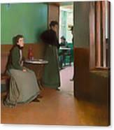 Interior Of A Cafe Canvas Print