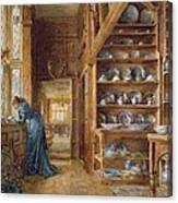 Interior Of A Panelled House Canvas Print