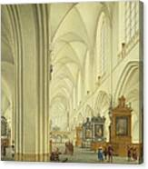 Interior Of Antwerp Cathedral, C.1668 Canvas Print